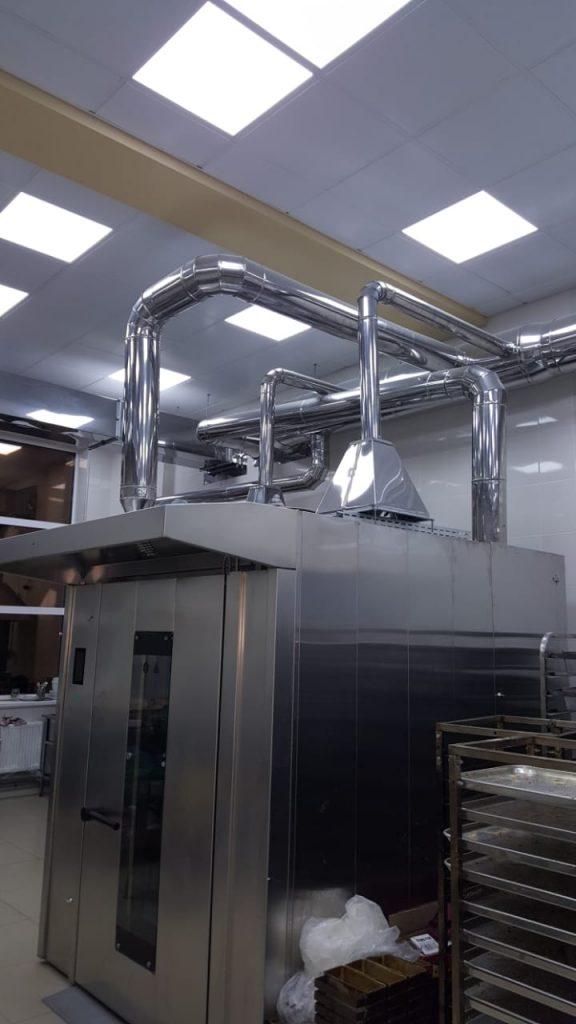 Установка кондиционеров и систем вентиляции Пекарня Астория г. Георгиевск